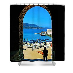 Shower Curtain featuring the photograph Dreaming Of A Vacation by Sue Melvin