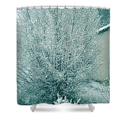Shower Curtain featuring the photograph Dreaming Of A White Christmas - Winter In Switzerland by Susanne Van Hulst