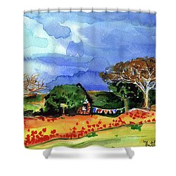 Shower Curtain featuring the painting Dreaming Of Malawi by Dora Hathazi Mendes