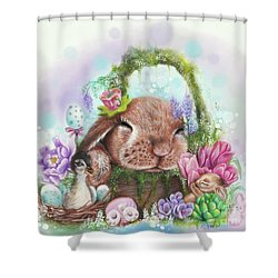 Shower Curtain featuring the mixed media Dreaming Of Spring - Dreaming Of Collection  by Sheena Pike