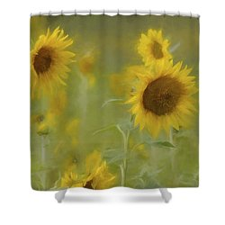 Shower Curtain featuring the photograph Dreaming Of Sunflowers by Benanne Stiens