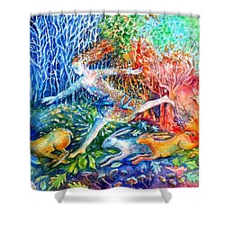 Dreaming With Hares Shower Curtain