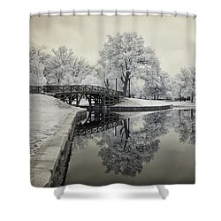 Dreamlike Elm Park In Worcester Shower Curtain