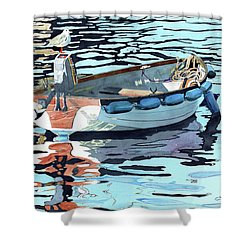 Dreams Adrift, Fishing Boat, Boat Painting, Boat Print, Boat Art Shower Curtain
