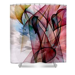 Shower Curtain featuring the digital art Dreams Color Smoke By Nico Bielow by Nico Bielow