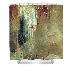 Dreams Come True - Earth Tone Art - Contemporary Pastel Color Abstract Painting Shower Curtain