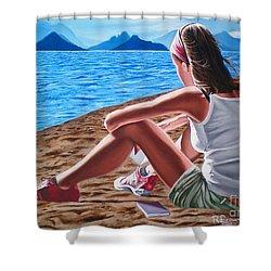 Dreams During The Day- Suenos Durante El Dia Shower Curtain