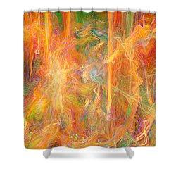 Dreams In Color Shower Curtain by Linda Sannuti