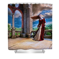 Shower Curtain featuring the painting Dreams Of Heaven by Dave Luebbert