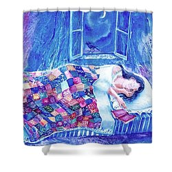 Dreams Of Love  Shower Curtain by Trudi Doyle