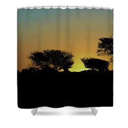 Dreams Of Namibian Sunsets Shower Curtain by Ernie Echols