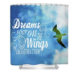 Shower Curtain featuring the photograph Dreams On Wings by Jan Amiss Photography