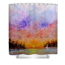 Dreamscape.. Shower Curtain by Cristina Mihailescu