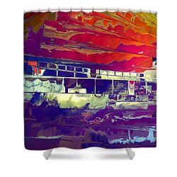Dreamship Shower Curtain by Alika Kumar