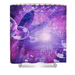 Shower Curtain featuring the digital art Flower Fractals  by Fine Art By Andrew David
