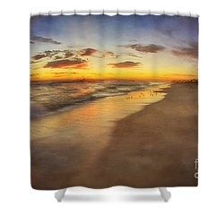 Dreamy Colorful Sunset Shower Curtain