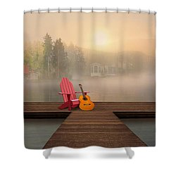 Dreamy Country Lake Shower Curtain