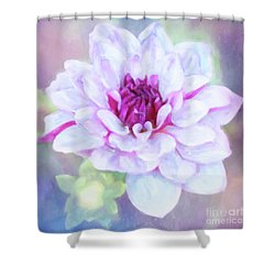 Dreamy, Delightful Dahlia Shower Curtain