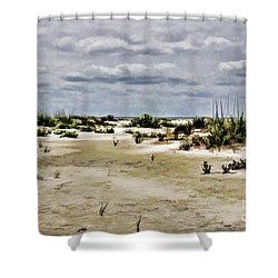 Dreamy Dunes Shower Curtain by Roberta Byram