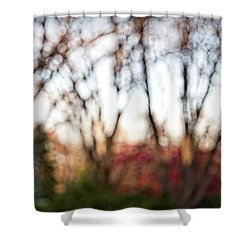 Shower Curtain featuring the photograph Dreamy Fall Colors by Susan Stone