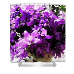 Dreamy Flowers Shower Curtain by Gabriella Weninger - David