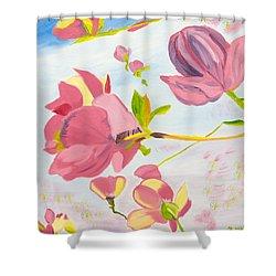 Dreamy Magnolias Shower Curtain by Meryl Goudey