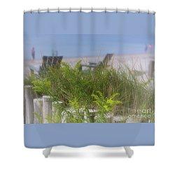 Dreamy Morning Walk On The Beach Shower Curtain