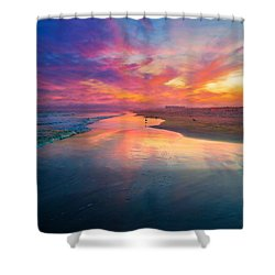 Da219 Dreamy Sunset Daniel Adams Shower Curtain