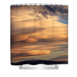 Dreamy Sunset Shower Curtain by Donna Kennedy