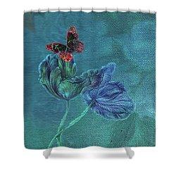 Dreamy Tulip With Gemlike Butterfly Shower Curtain