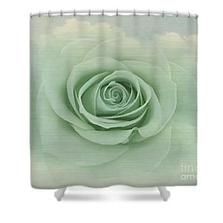 Dreamy Vintage Floating Rose Shower Curtain
