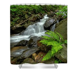 Shower Curtain featuring the photograph Dreamy Waterfall Cascades by Debra and Dave Vanderlaan