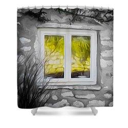 Dreamy Window Shower Curtain