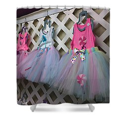 Dress For Three Shower Curtain by Steve Sperry