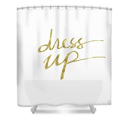 Dress Up Gold- Art By Linda Woods Shower Curtain