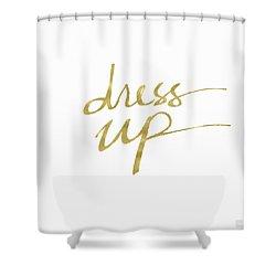 Dress Up Gold- Art By Linda Woods Shower Curtain