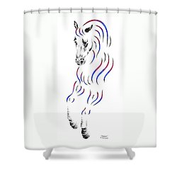 Dressage Horse Dancer Print Shower Curtain