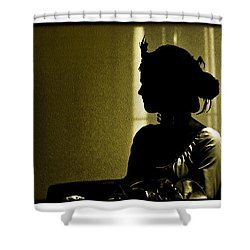 Dressed For The Corrida Goyesca Shower Curtain by Mal Bray