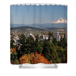 Dressed In Fall Colors Shower Curtain