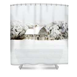 Dressed In White Shower Curtain