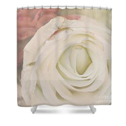 Dressed In White Satin Shower Curtain by Cindy Garber Iverson