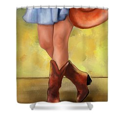 These Boots Are Made For Dancing Shower Curtain
