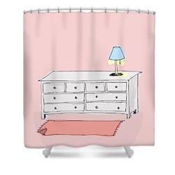Dresser Shower Curtain