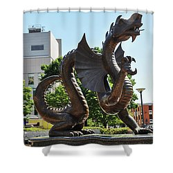 Shower Curtain featuring the photograph Drexel University Dragon - Philadelphia Pa by Bill Cannon
