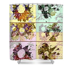 Shower Curtain featuring the mixed media Dried Flower by Ann Calvo