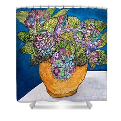 Dried Hydrangea Shower Curtain by Janet Immordino