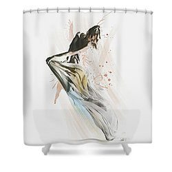 Drift Contemporary Dance Shower Curtain