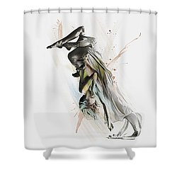 Drift Contemporary Dance Two Shower Curtain