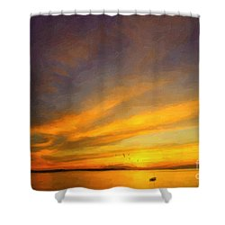 Shower Curtain featuring the photograph Drifting by Chris Armytage