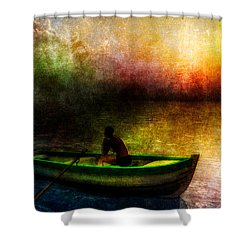 Drifting Into The Light Shower Curtain by Bob Orsillo